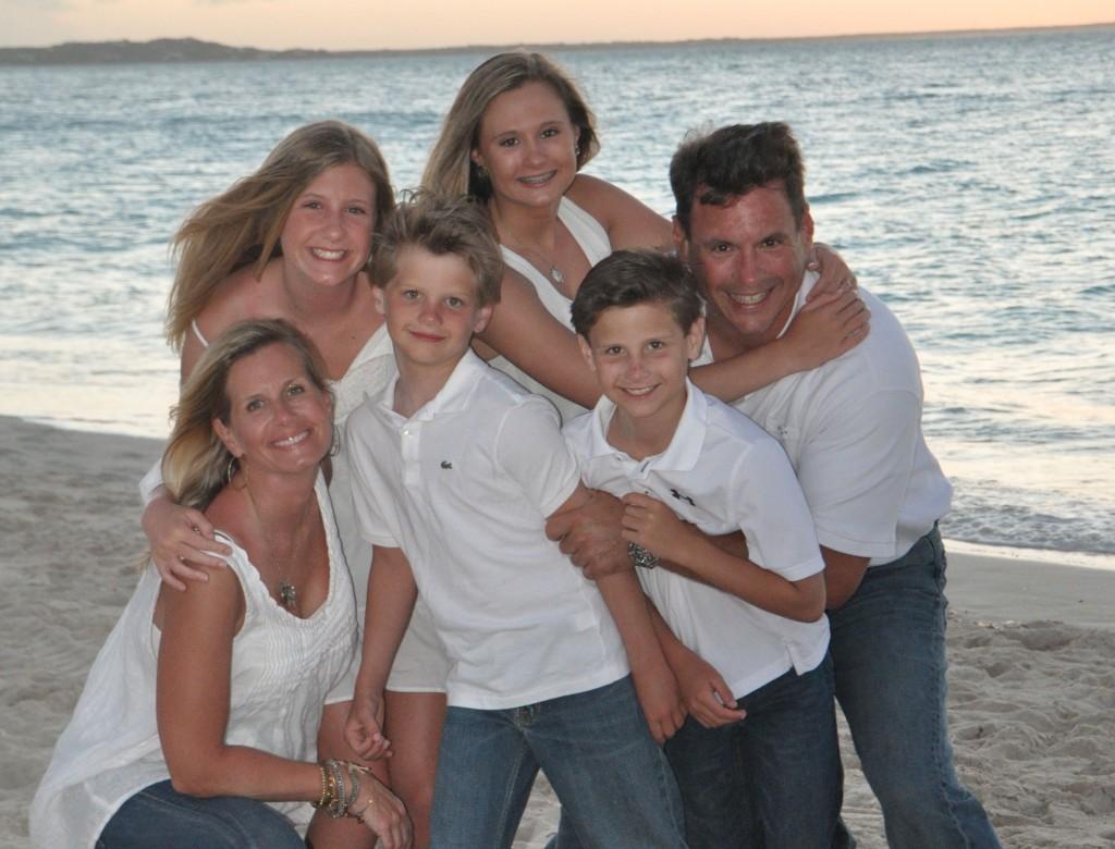 family at provo beach